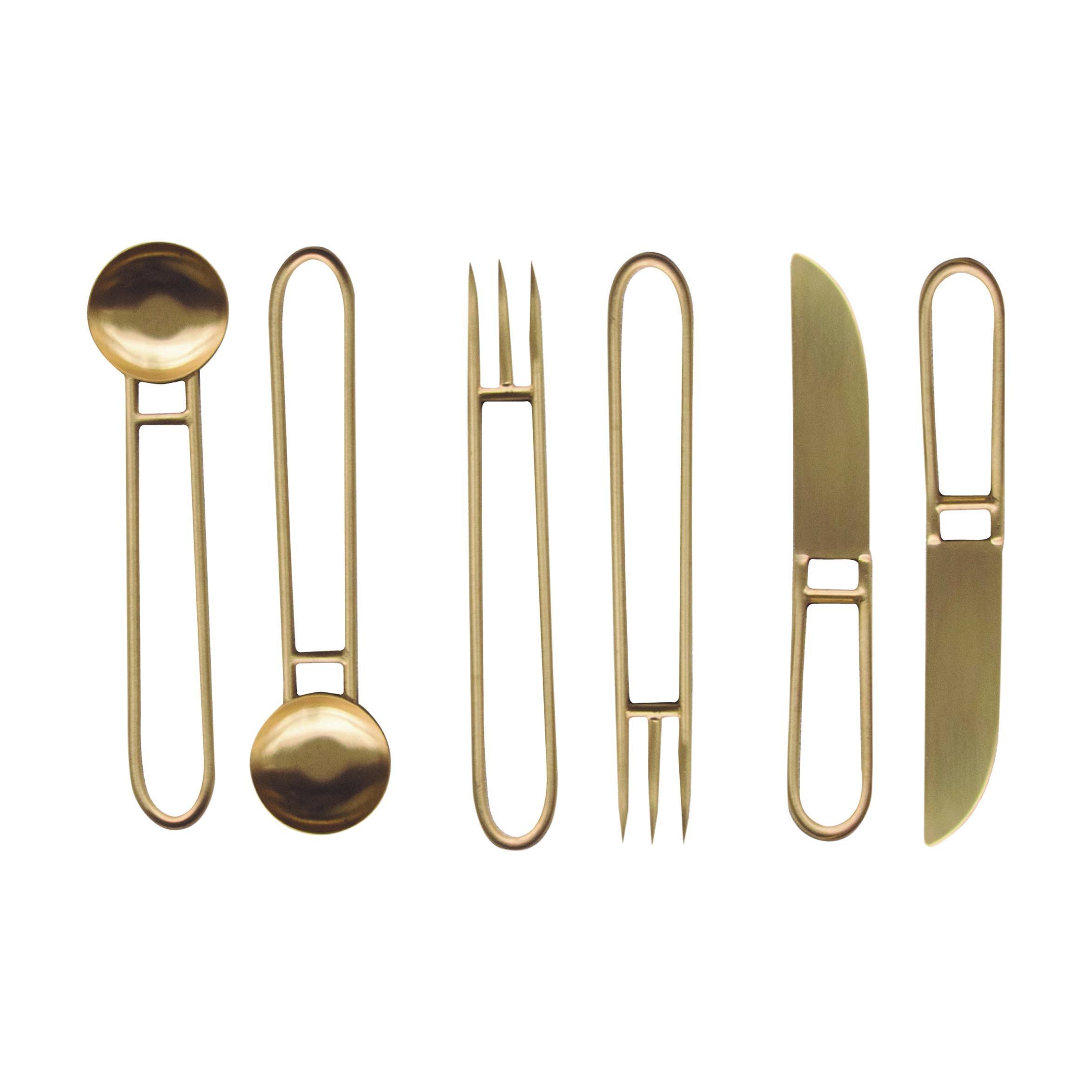 Geometric Cutlery Service Set x 2