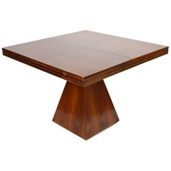 Geometric Expanding Table in Walnut circa 1960 by Introini