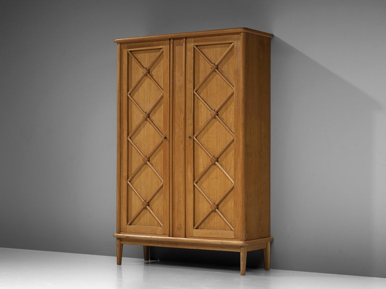 High board, oak, France, 1960s