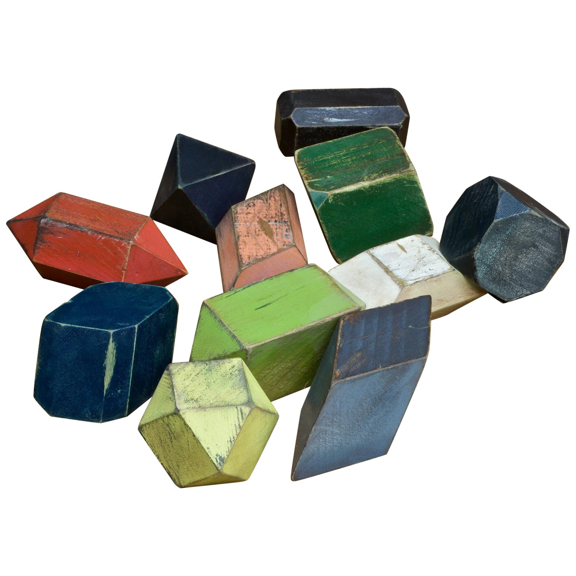 Geometric Geology Gemstone Wooden Crystal Models Atomic Toy Building Blocks