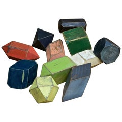 Geometric Geology Gemstone Wooden Crystal Models Atomic Toy Building Blocks