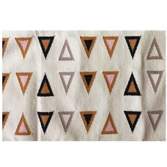 Geometric Gramercy Multi Handwoven Modern Cotton Rug, Carpet and Durrie
