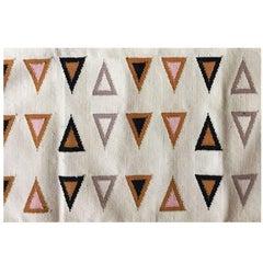 Geometric Gramercy Multi Handwoven Modern Cotton Rug, Carpet and Durrie