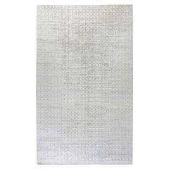 Geometric Grey Terra Rug in Natural Wool