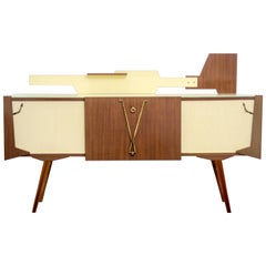 Geometric Italian Sideboard or Bar, 1960