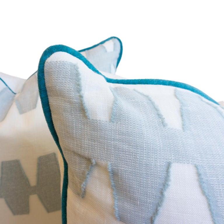 Geometric Linen Pillows For Sale 1