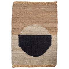Geometric Lola Circle Handwoven Modern Jute Rug, Carpet and Durrie