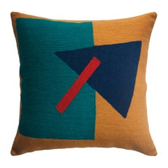 Geometric Madrid Triangle Hand Embroidered Modern Throw Pillow Cover
