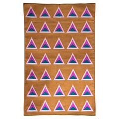Geometric Maya Ice Cream Handwoven Modern Cotton Rug, Carpet and Durrie