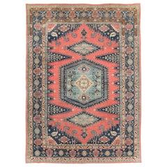 Geometric Mid-20th Century Handmade Persian Veece Large Room Size Carpet