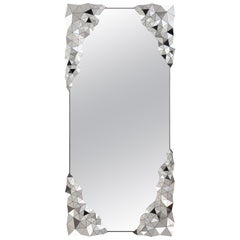 Geometric Mirror in Polished Stainless Steel by Jake Phipps