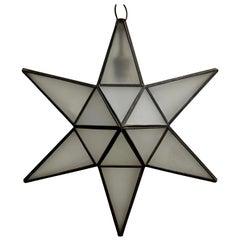 Geometric Moravian Star Pendant Lamp