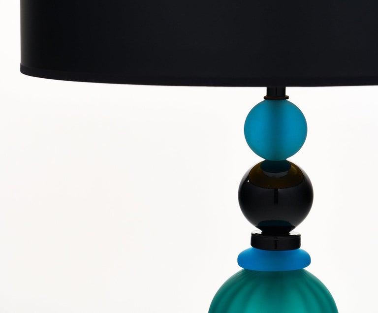 Modern Geometric Murano Glass Lamp For Sale