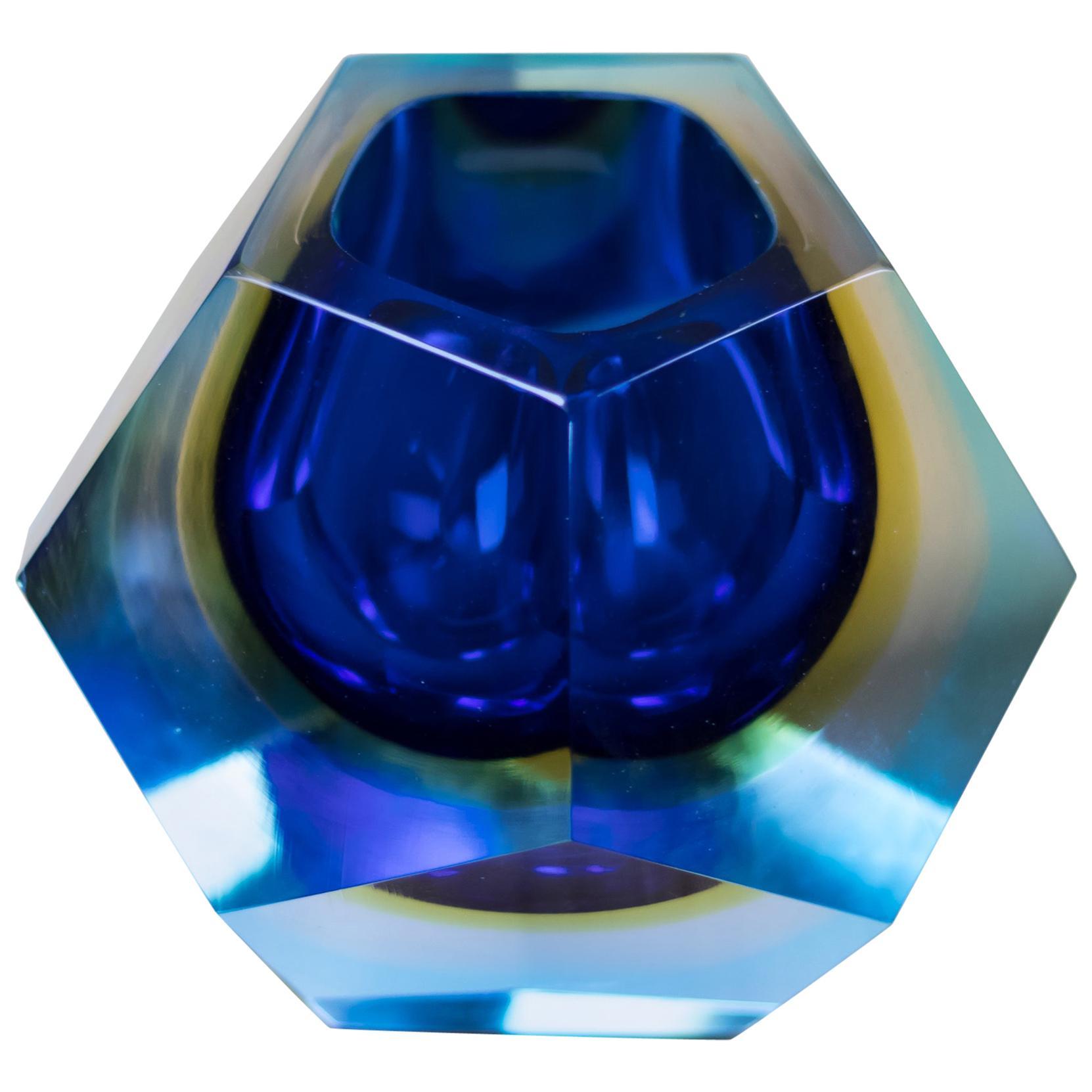 Geometric Murano Glass Vase