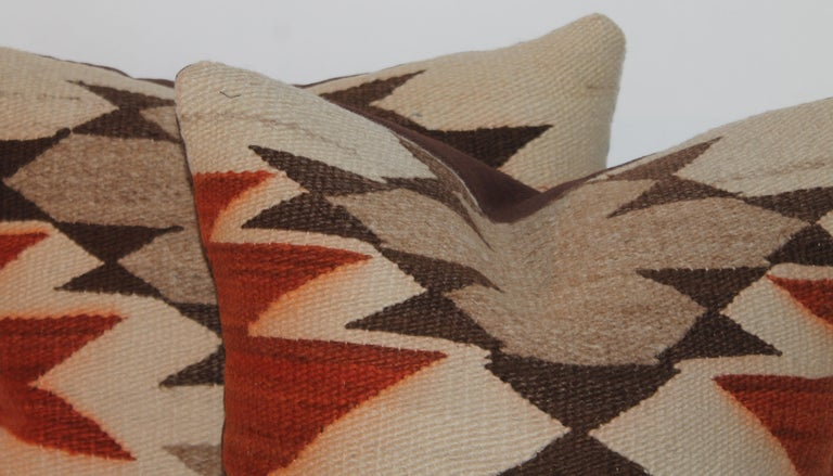 American Geometric Navajo Indian Weaving Pillows For Sale