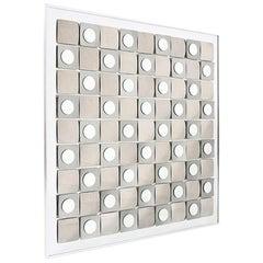 Geometric Op Wall Art Mirror by Hal Bienenfeld