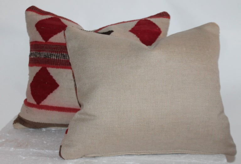 Geometric Pair of Navajo Indian Pillows In Good Condition For Sale In Los Angeles, CA