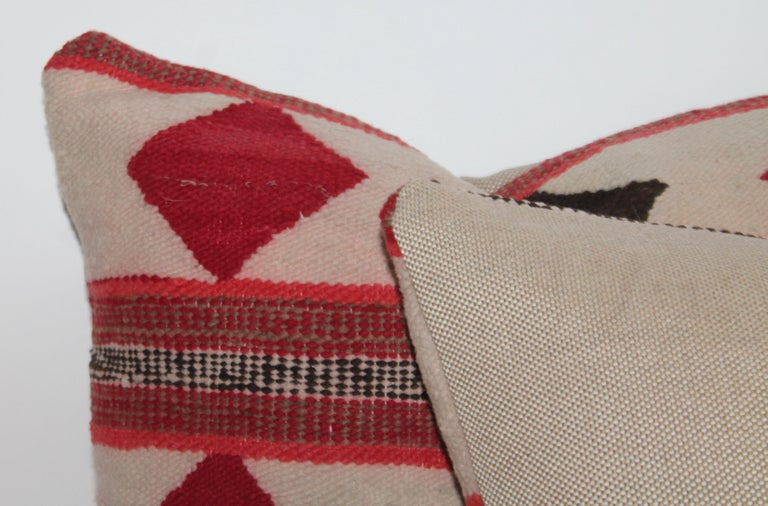 20th Century Geometric Pair of Navajo Indian Pillows For Sale