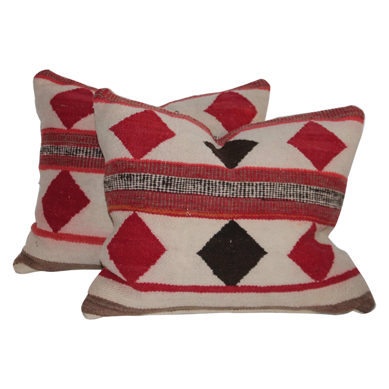 Geometric Pair of Navajo Indian Pillows