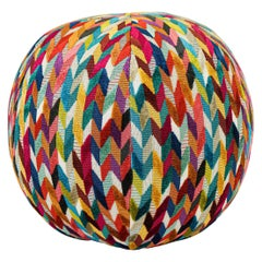 Geometric Pattern Rainbow Ball Pillow