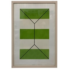Geometric Print on Paper by A. Spencer, 1989