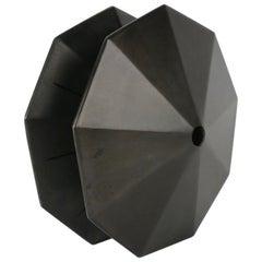 "Geometric Steel Sculpture ""Fix"" by Topher Gent"