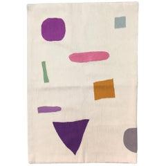 Geometrischer Tamara Handbestickter Farbiger Moderner Teppich
