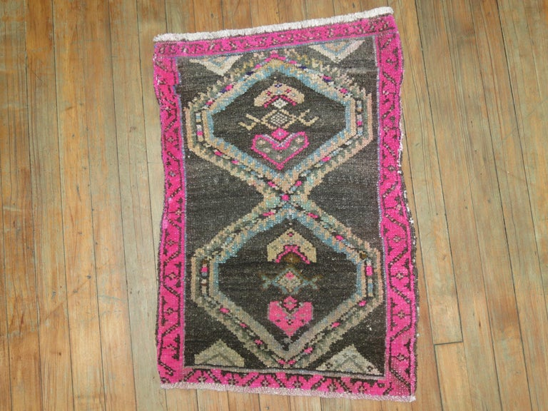 One of a kind vintage Turkish rug. Part of our one of a kind attitude collection.