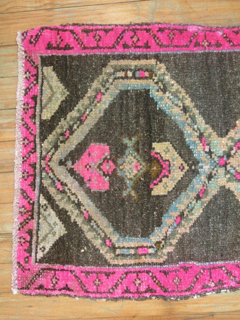 Bohemian Geometric Turkish Attitude Rug For Sale