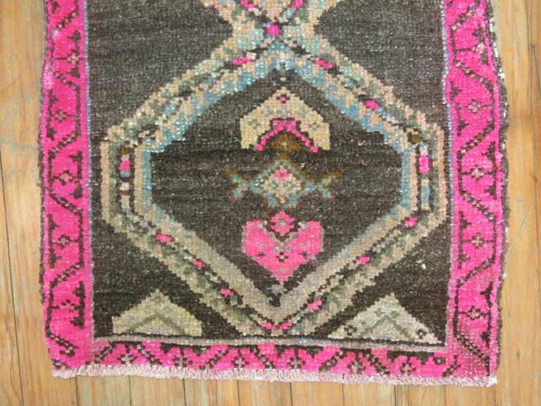 Hand-Woven Geometric Turkish Attitude Rug For Sale