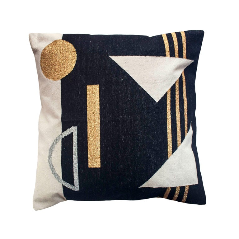 Geometric Valerie Modern Throw Pillow Cover For Sale