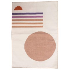 Geometric Vera Sunset Hand Woven Modern Wool Rug, Carpet and Durrie
