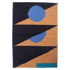 Geometric Vera Triangle Handwoven Modern Wool Rug, Carpet and Durrie