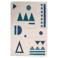 Geometric Vera Tribal Handwoven Modern Wool Rug, Carpet and Durrie