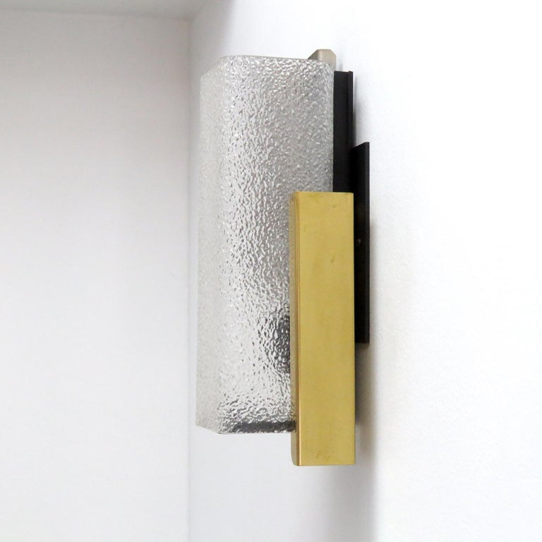 Mid-Century Modern Geometric Wall Light by Arlus For Sale