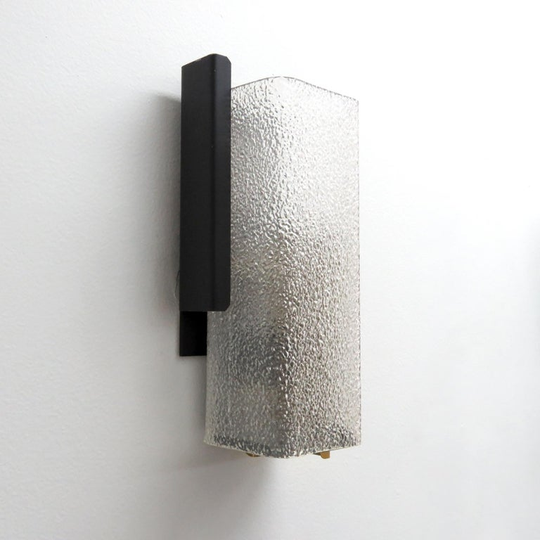 Mid-20th Century Geometric Wall Light by Arlus For Sale