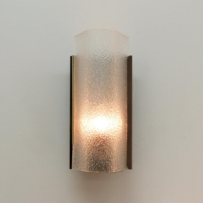 Mid-20th Century Geometric Wall Sconce by Arlus For Sale