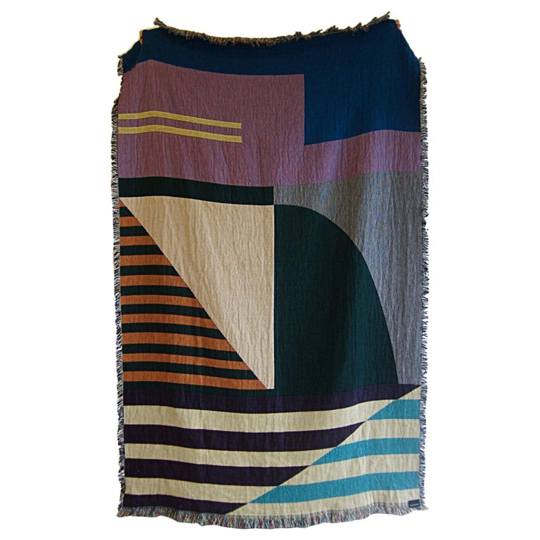 Geometric Woven Throw Blanket For Sale