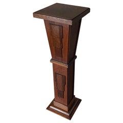 Geometrical Art Deco Pedestal / Sculpture Stand for Busts Sculptures Vases