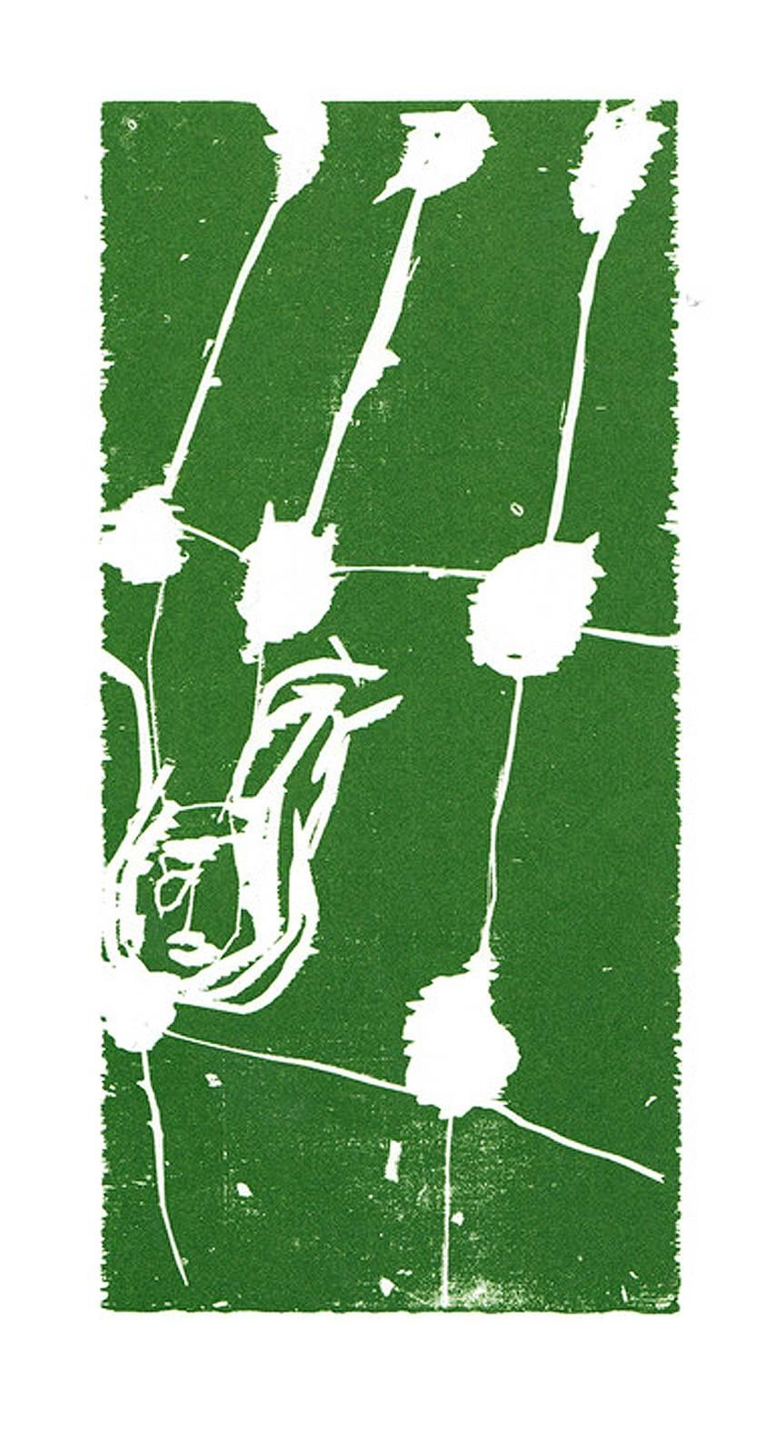 45 - Januar, Woodcut, Contemporary Art, Neo Expressionism, 20th Century