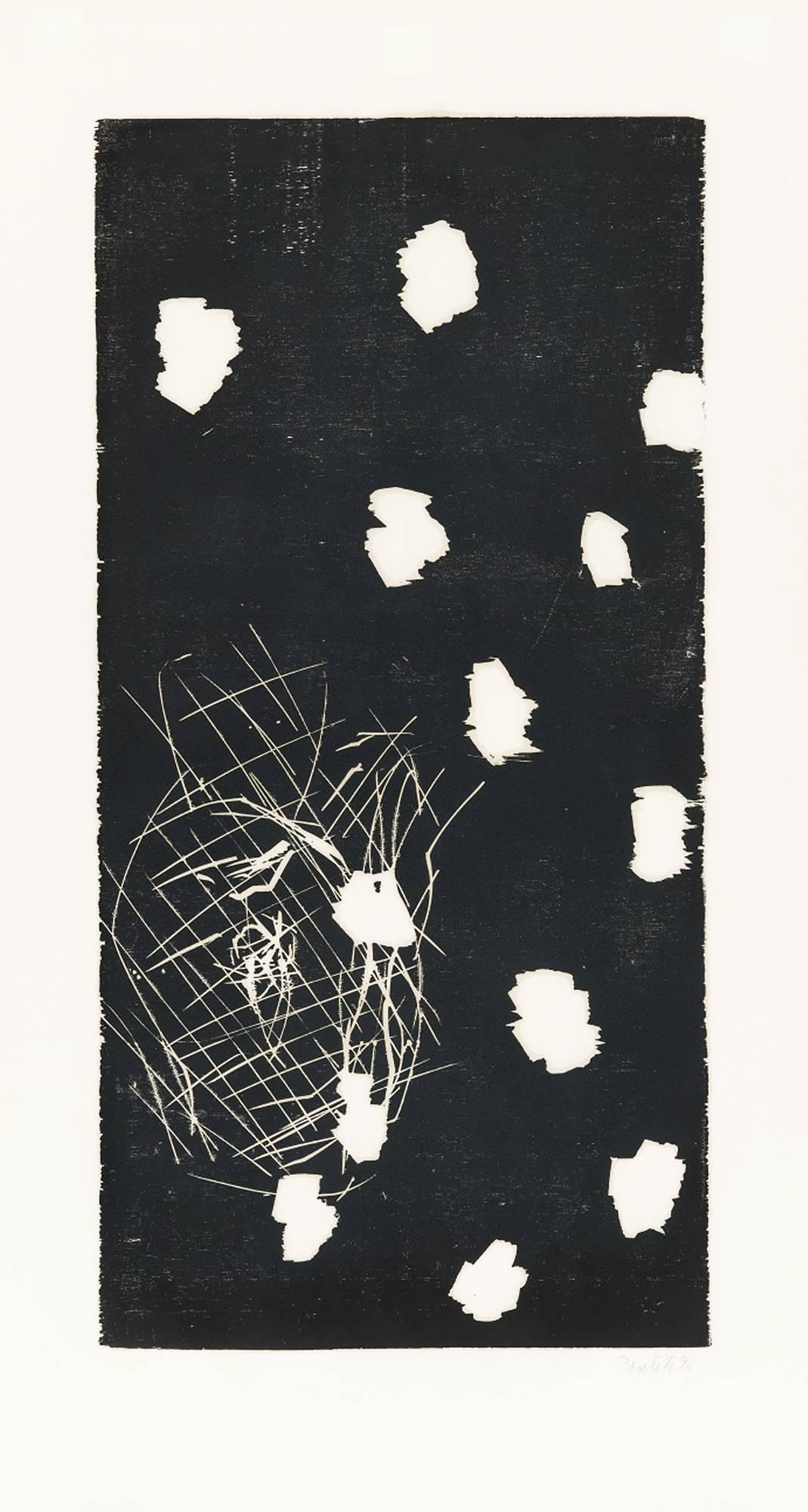 45 - November, Woodcut, Contemporary Art, Expressionism, 20th Century