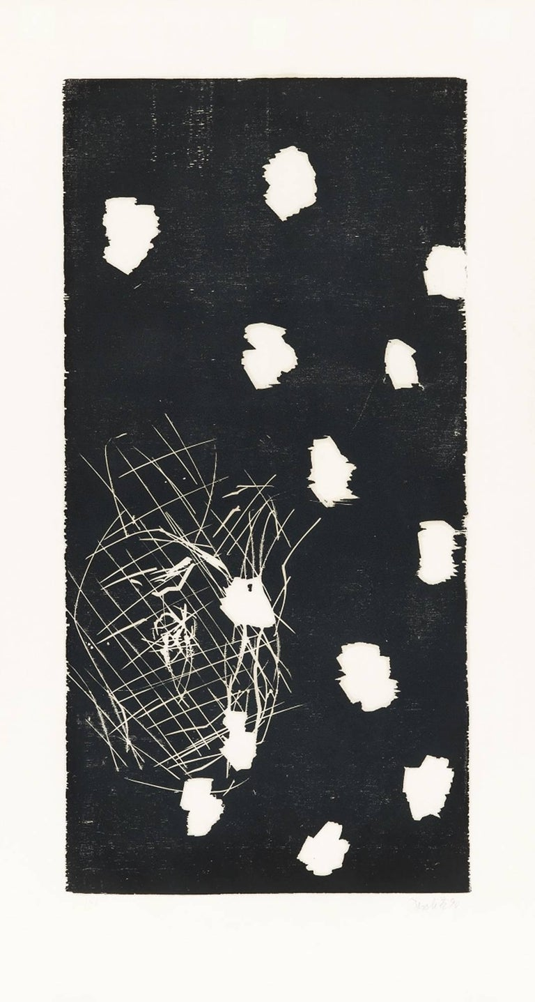 Georg Baselitz Abstract Print - 45 - November, Woodcut, Contemporary Art, Expressionism, 20th Century