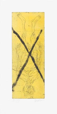 Avignon dada strip - 20th Century, Georg Baselitz, Selfportrait Figurative Print