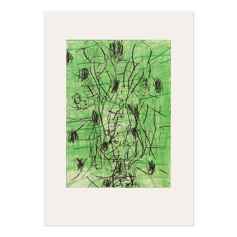 Georg Baselitz Abstract Print - Bart, Woodcut, 1990/91, Contemporary Art, Expressionism, 20th Century