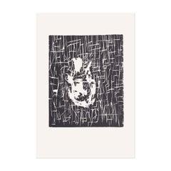 Dresdner Frau I, Woodcut, 1990, Contemporary Art, Expressionism, 20th Century