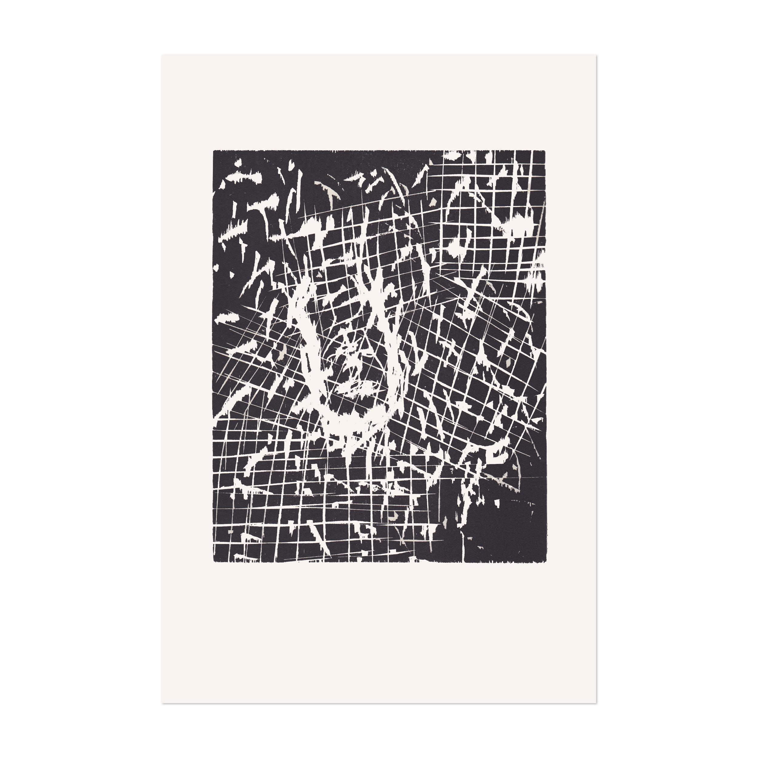 Dresdner Frau V, Woodcut, 1990, Contemporary Art, Expressionism, 20th Century