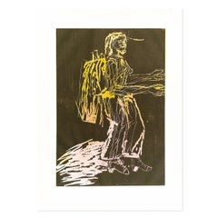 Falle (Trap), Woodcut, Contemporary Art, Neo Expressionist, 21st Century