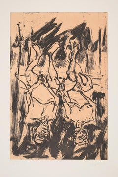 Gartenlaube - 20th Century, Georg Baselitz, Portrait, Couple, Figurative Print