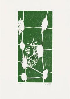 Grün VI (Green VI) - 21st Century, Georg Baselitz, Green, Portrait