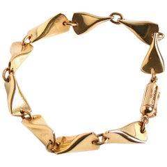 Georg Jensen 18 Karat Gold Butterfly Bracelet Designed by Edvard Kindt Larsen